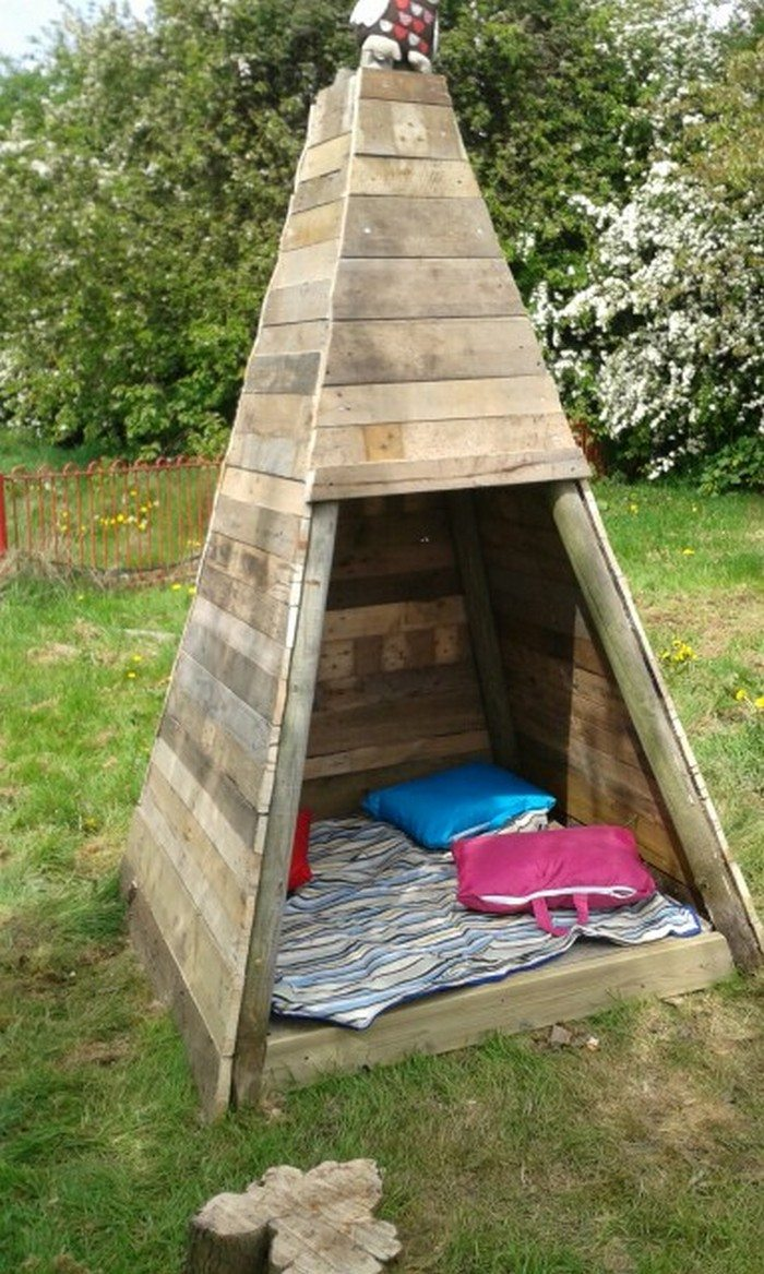 build your kids a wooden teepee tent diy projects for. Black Bedroom Furniture Sets. Home Design Ideas