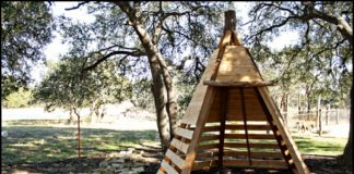 Wooden Teepee Tent for Kids