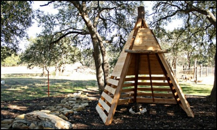Build your kids a wooden teepee tent!