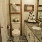 Chalk Painted Bathroom Floors