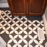 Chalk Painted Bathroom Floors