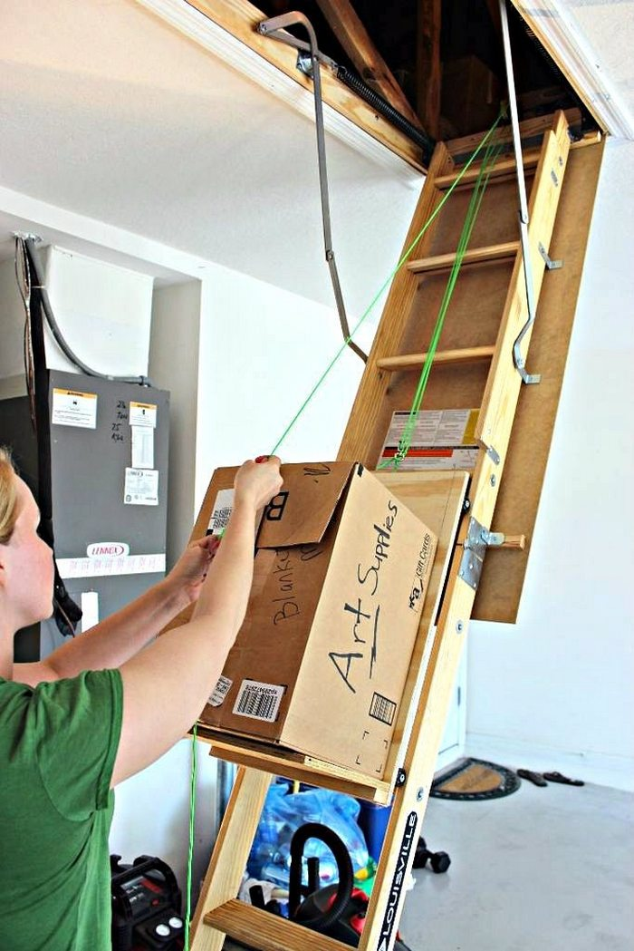 Store Items In Your Attic With Ease With This Diy Attic