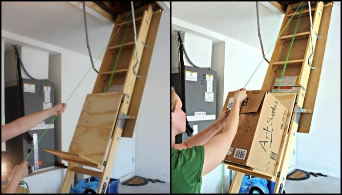 diy garage lift system with Diy Attic Storage Lift on B001ODM4CO besides Portable Craft Organizer also How To Build Roller Furler For Under 40 together with Diy Attic Storage Lift together with Seip Ekr1mcg Slavedor.