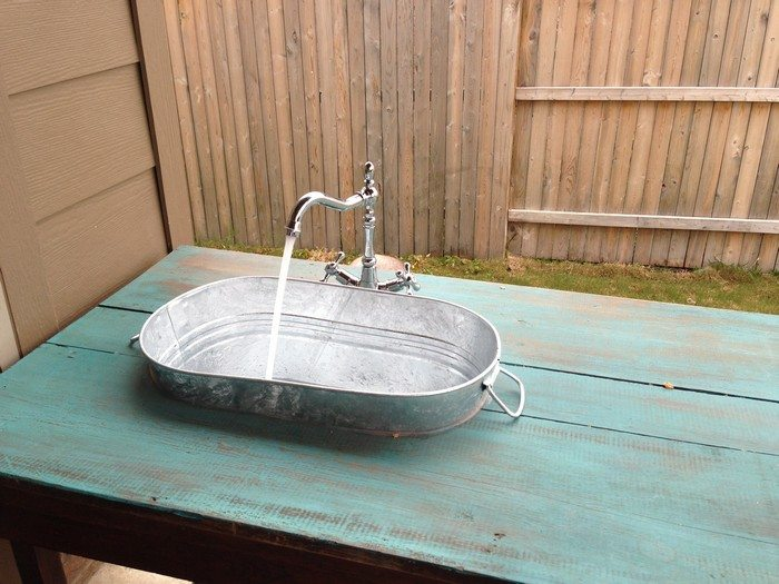 Galvanized Bucket Sink