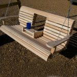 DIY Porch Swing Bench with Cup Holder
