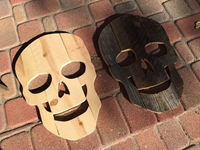 Make Scary Skulls Out Of Scrap Timber Diy Projects For