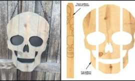 Make scary skulls out of scrap timber!