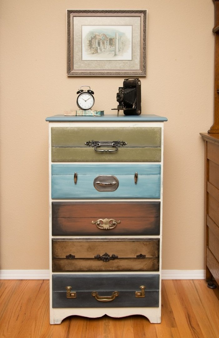 Give Your Old Dresser A New Look With This Faux Suitcase