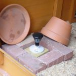 Heated Chicken Waterer - Terra Cotta Pot