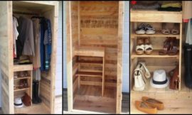 Organize your clothing, shoes and bags by building a pallet wardrobe!