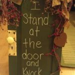 Cabinet Door Chalkboard Sign