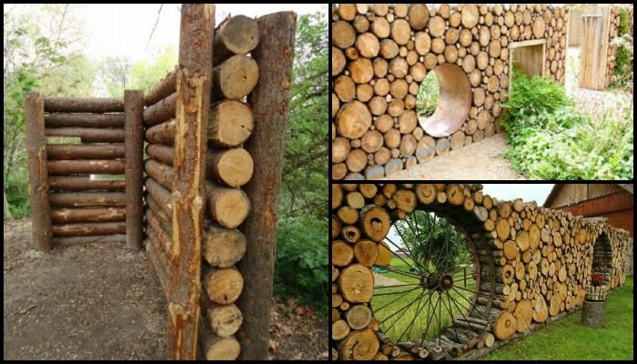 Cordwood Fence