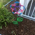 Horseshoe Flower Yard Art