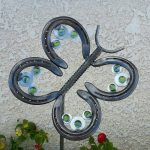 Horseshoe Butterfly Yard Art
