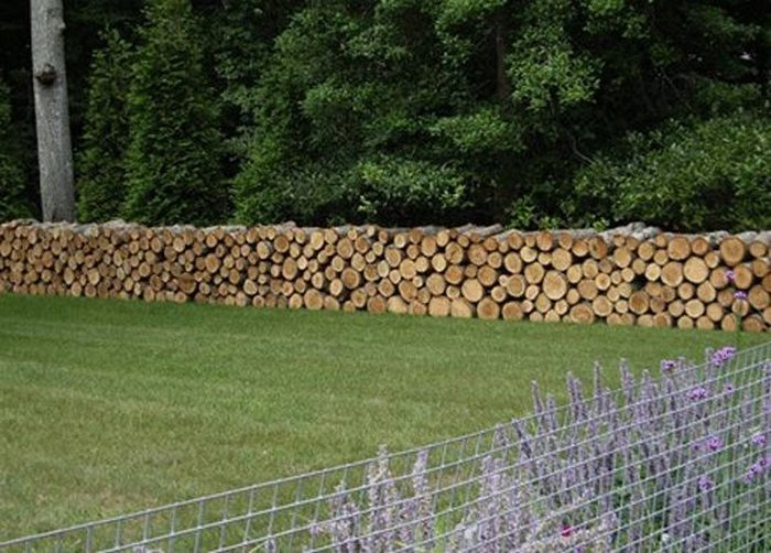 Cordwood Fences Diy Projects For Everyone