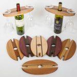DIY wine bottle and glass holder