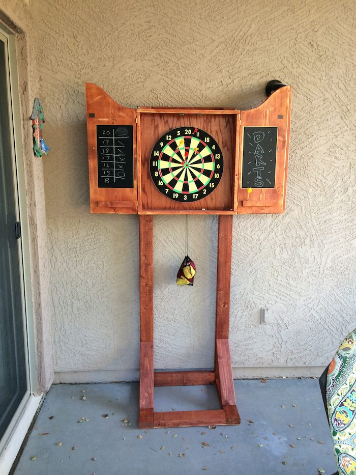 How To Build An Outdoor Dartboard Stand Diy Projects For