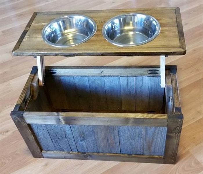 Do It Yourself Home Design: How To Make A Dog Bowl Riser With Storage