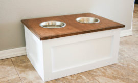How to Make A Dog Bowl Riser with Storage