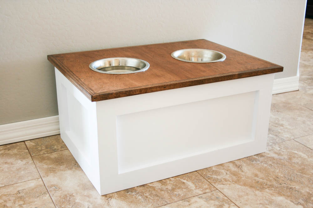 Get Step By Step Instructions On How To Build This Dog Bowl Riser Here.
