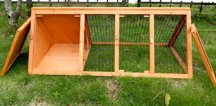 DIY A-frame Rabbit Hutch