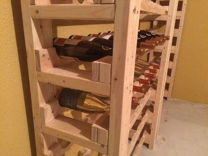 Before building your own wine rack tower, choose the right material.