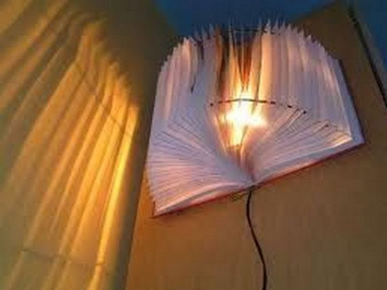 How to Turn a Book Into a Lamp Shade