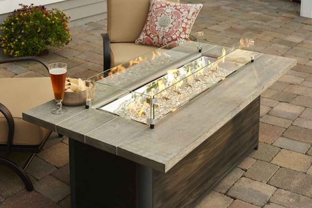 This DIY fire pit coffee table combines the best of both worlds.