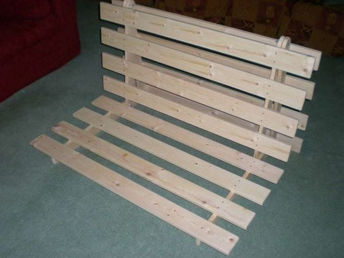 How To Build A Fold Out Sofa Futon Bed Frame Diy