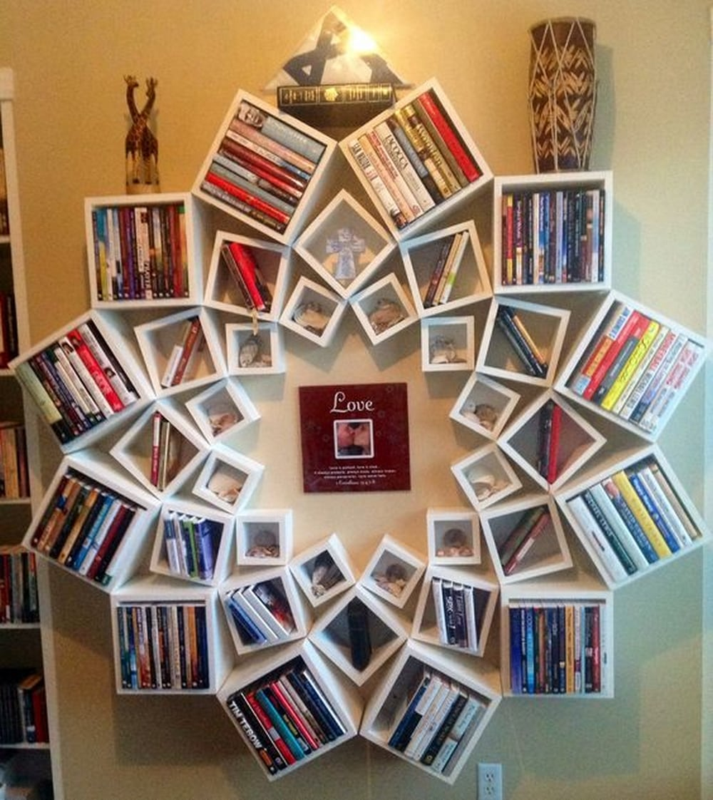 DIY Mandala Bookshelf