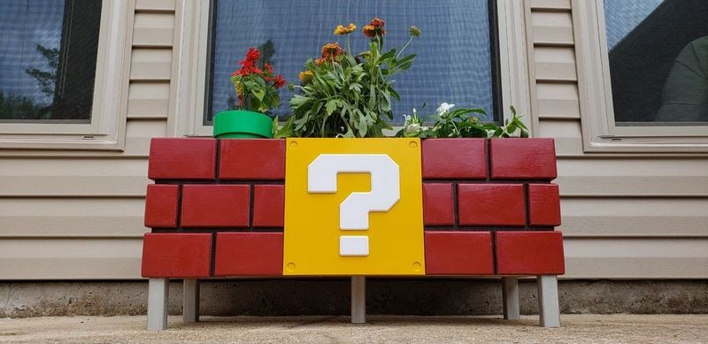 This DIY Mario planter box is beautiful and functional - what more can you ask for?
