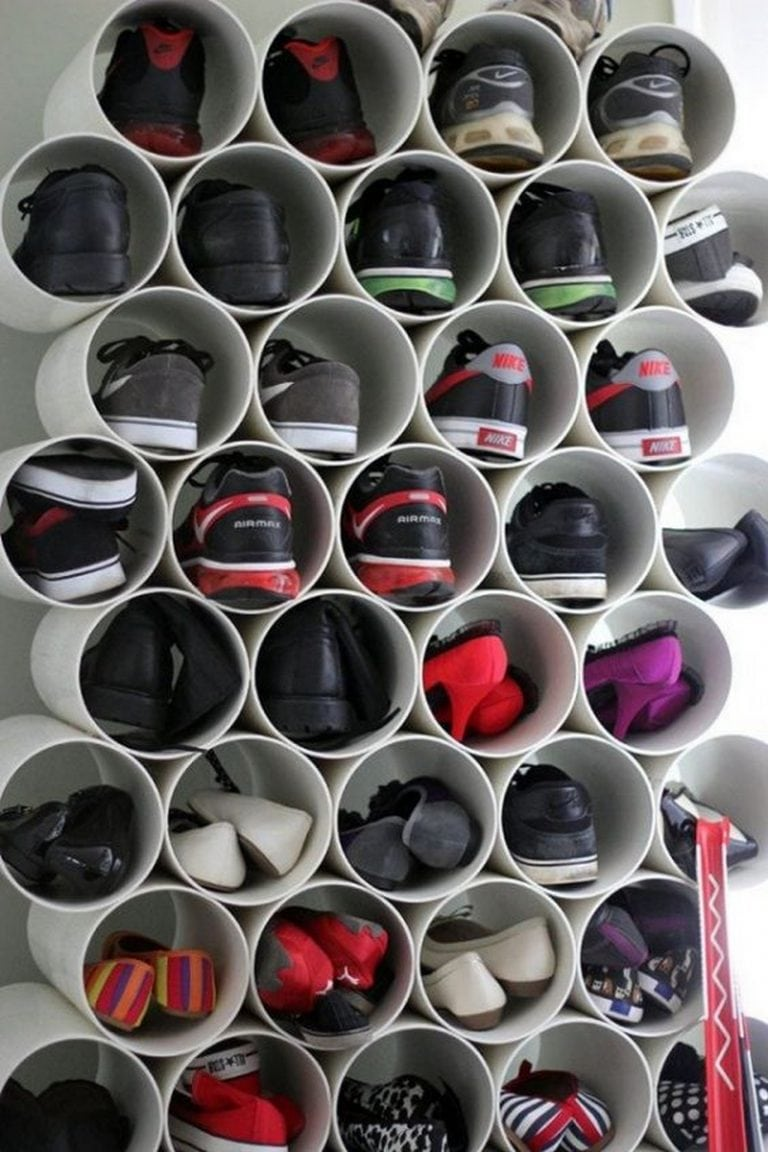 How to Build a Recycled PVC Wall Mounted Shoe Rack