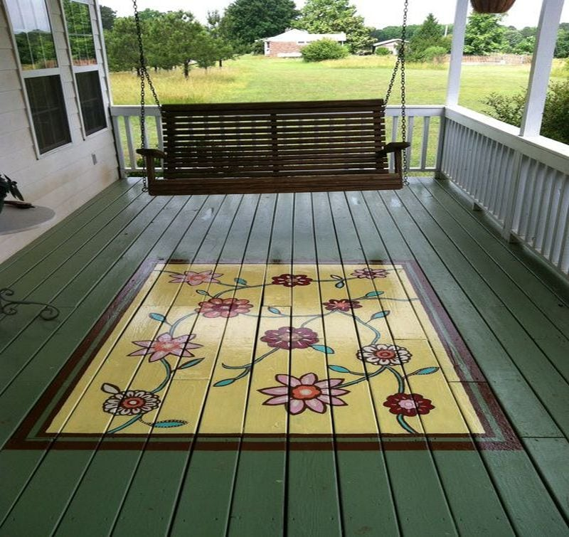 How To Paint A Porch Rug