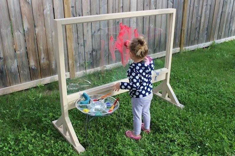 Build a DIY acrylic painting easel and watch your budding artists at work!