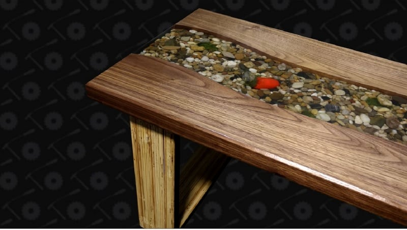 This riverbed coffee table is a perfect reminder of a favorite vacation spot or a memorable summer spent with the family.