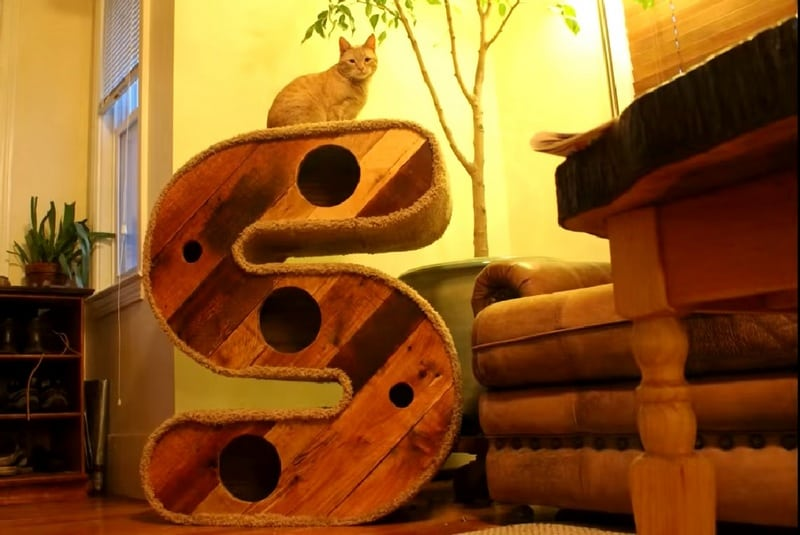 This S-shaped cat house/tunnel is really special if your cat's name starts with an S.