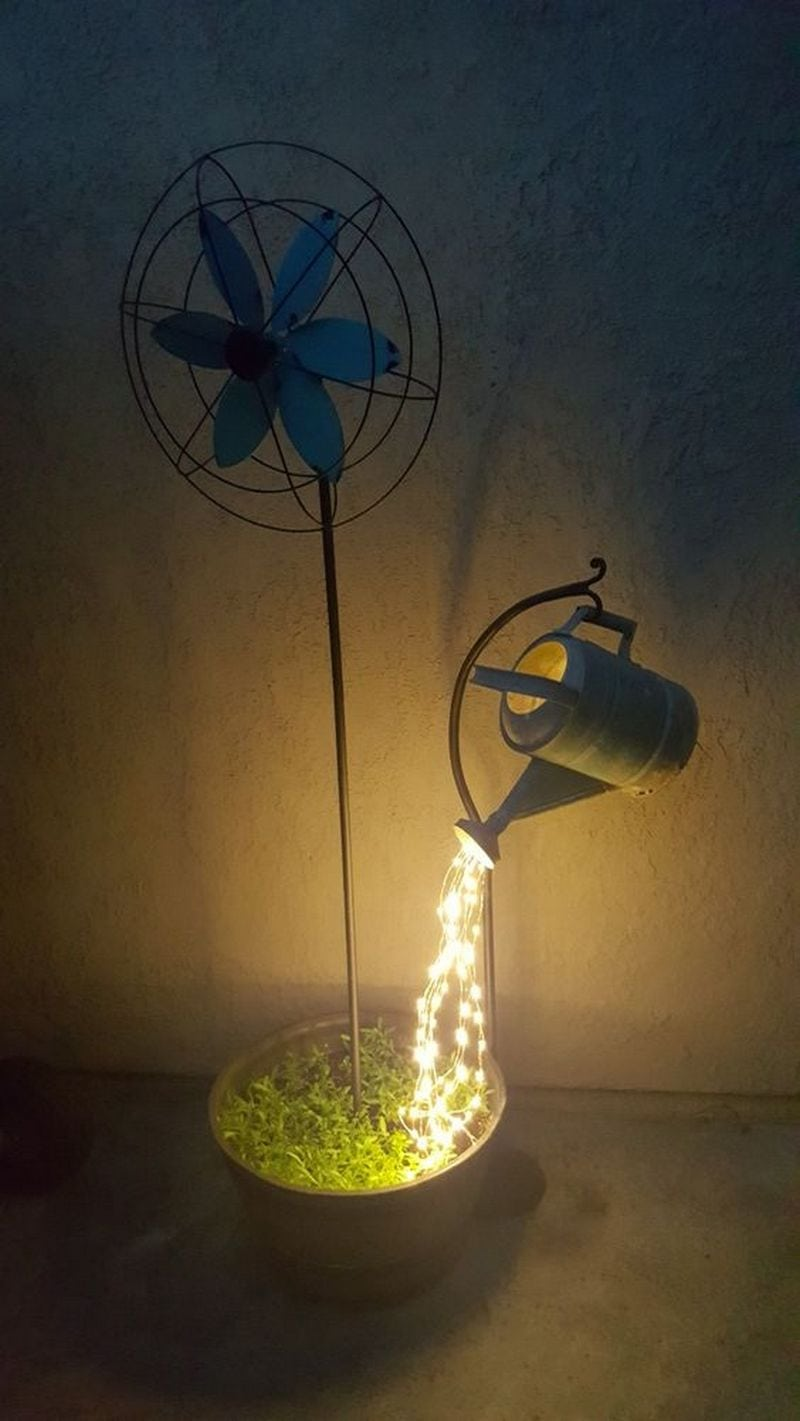 Diy Watering Can Fairy Lights Diy Projects For Everyone