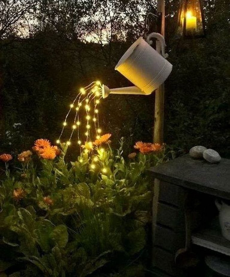 DIY Watering Can Fairy Lights