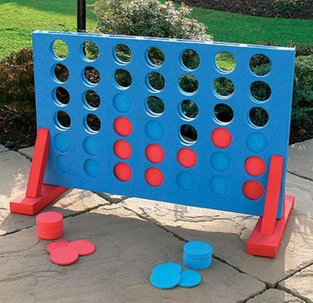 How to Build a Backyard 4-in-a-Row Game