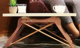 Turn Coat Hangers Into A Coffee Table