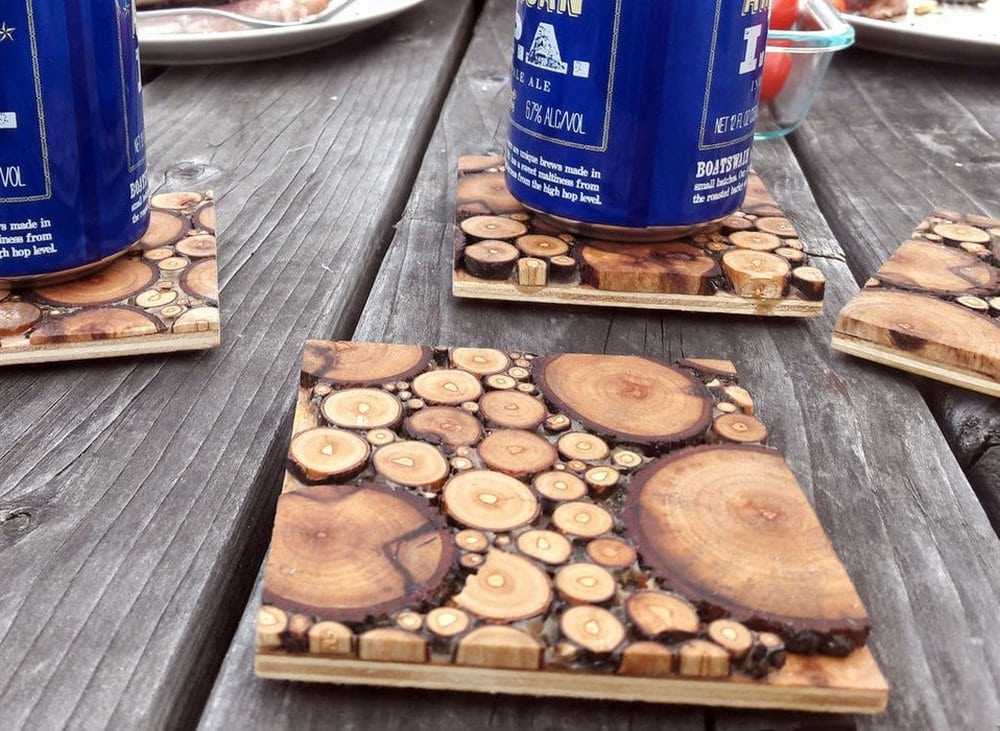 These wood coasters are so unique and interesting.