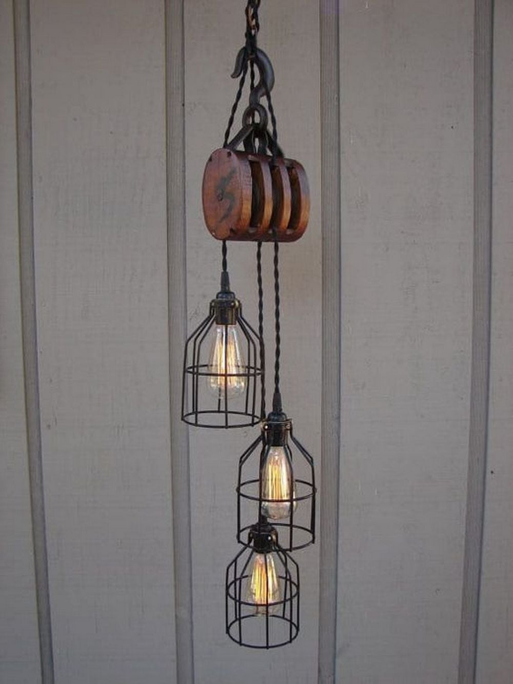 Making your own vintage lighting ensures that it's safe and not a fire hazard.