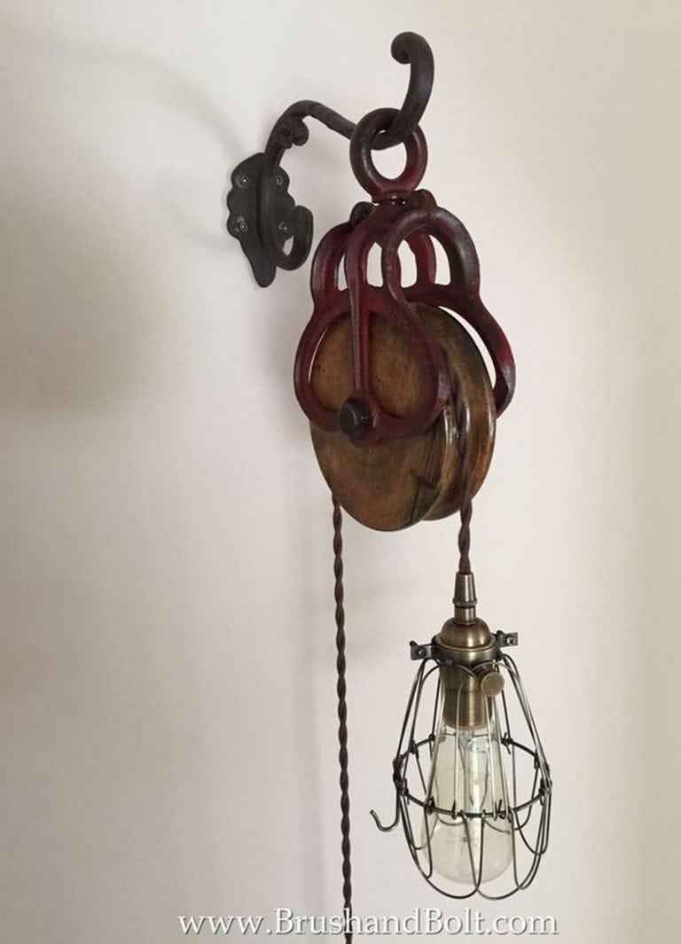 DIY Pulley Lamp