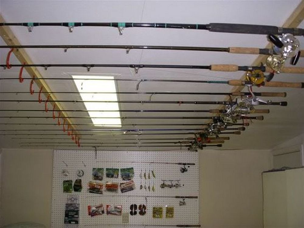 This is a great, inexpensive way to organize your fishing rods.