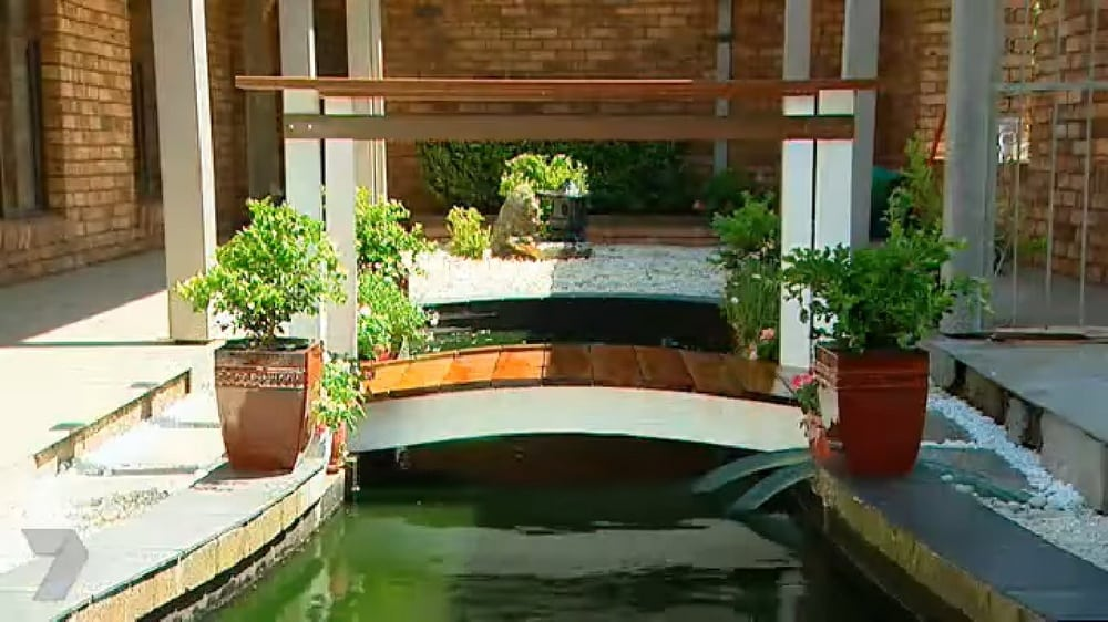 This garden bridge is perfect if you have a body of water in your property.