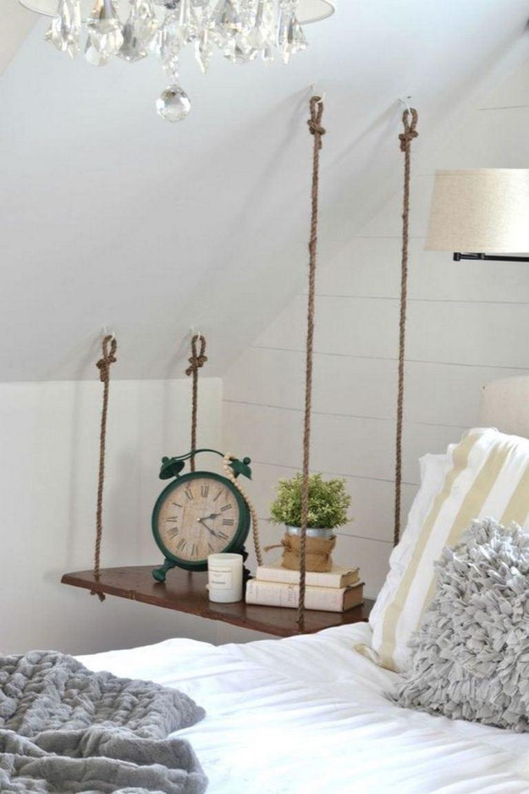 DIY Hanging Nightstand