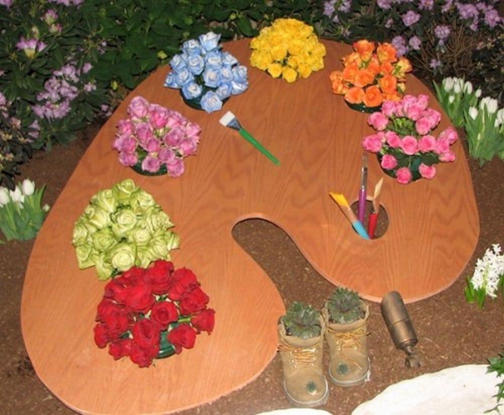 DIY Paint Palette Planter
