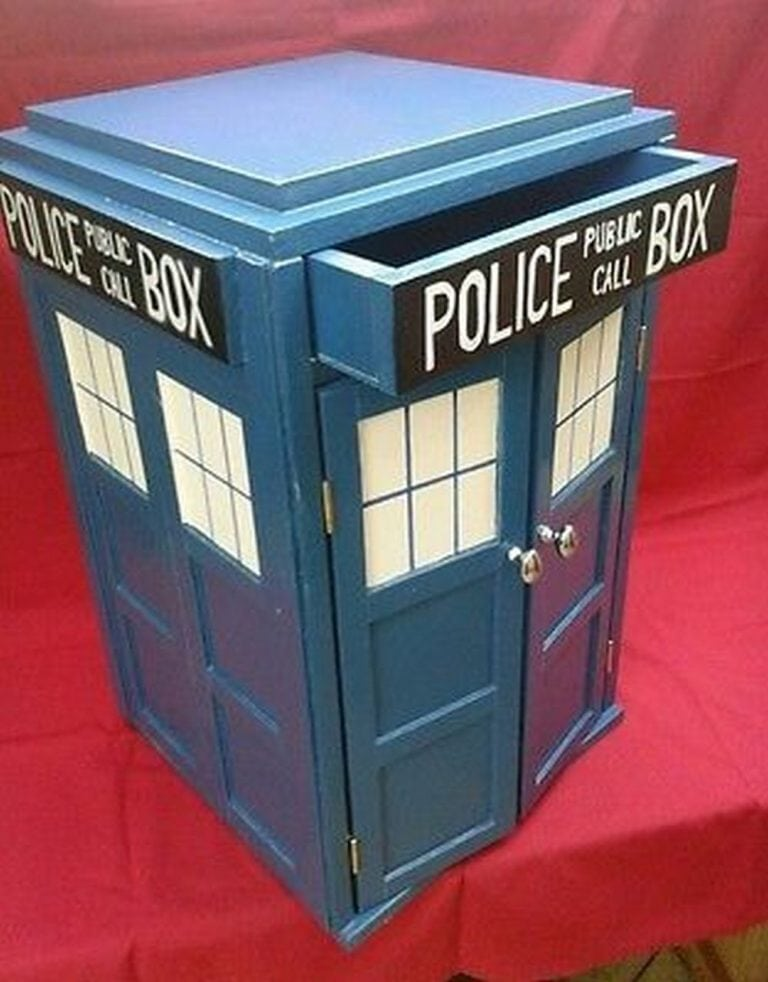 Build Your Own Tardis Bedside Table