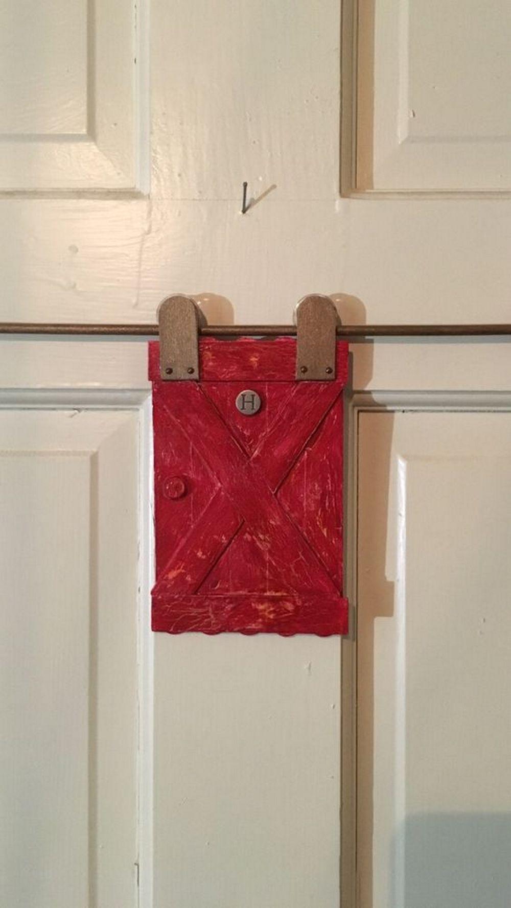 Diy Barn Door Peephole Cover Diy Projects For Everyone