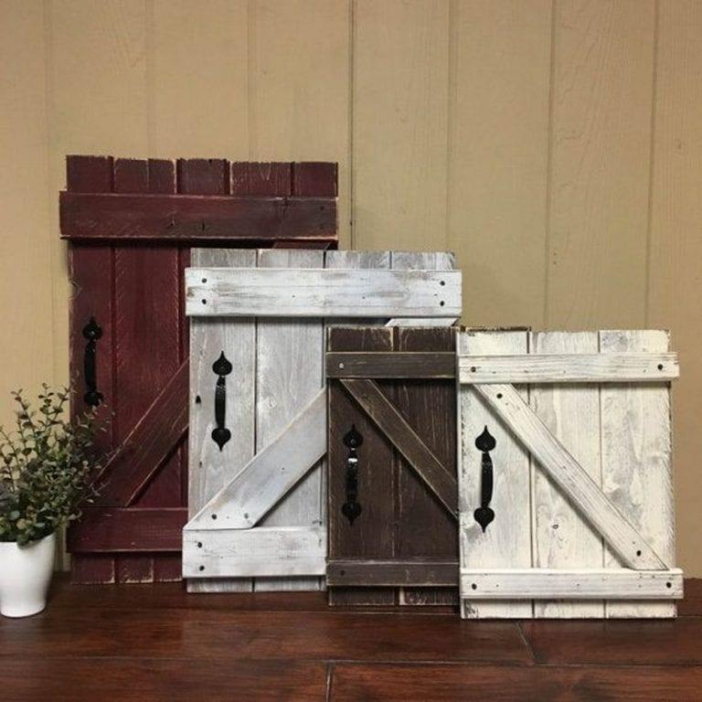 DIY Barn Door Peephole Cover